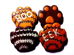 New listingGluten Free Wheat Free Homemade Peanut Butter Halloween Dog Paws Treats (Homemade Halloween Invitations)