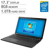 "Toshiba Satellite 17.3"" Laptop Computer with Windows 7 Professional (2.2GHz Intel i5-5200U Processor, 8GB RAM, 1TB HDD, Multi-DVD Drive)"