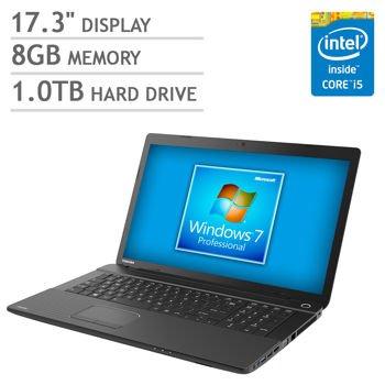 "Toshiba Satellite 17.3"" Laptop Computer with Windows 7"