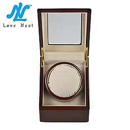[New Style] Love Nest Single Watch Winder Piano Finish Pure Handmade with High Quality Japanese Mabuchi Motor