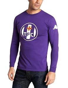 Kappa Men's Toulouse Logo Long Sleeve T-Shirt, Purple, Small