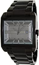 Armani Exchange Smart Black Dial Black Ion-plated Mens Watch AX2202