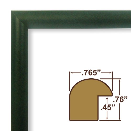 "18x24 CLEARANCE Picture Frame / Poster Frame .765"" Wide Smooth Full Wrap Distressed Green Frame (FW2GR)"