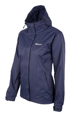 Mountain Warehouse Damen Outdoor Kapuzen Torrent Wasserdicht Damen jacke mantel Freizeit Sport Wander Marineblau DE 42 (EU 44) -