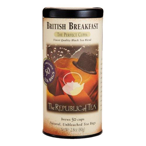 The Republic of Tea, British Breakfast Tea, 50-Count (British Beverages compare prices)