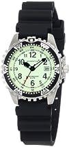 Momentum Womens 1M-DV01L1B M1 Lime Dial Black Rubber Dive Watch