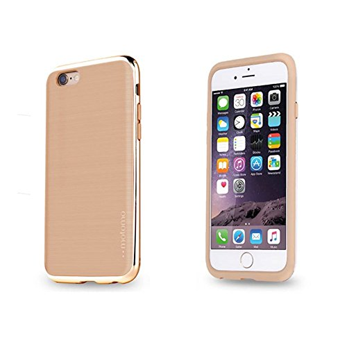 iPhone 6 / 6s 4.7 Case [INFINITY] - Slim Fit, Two-toned, Strong Hard Cover, Metal Edge in 6 colors [Warm Beige/Chrome Gold] (Hello Kitty Chrome Book Cover compare prices)