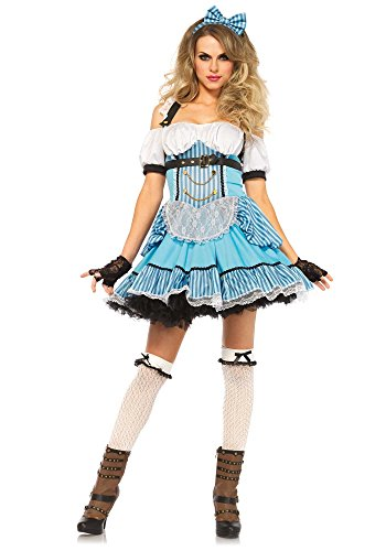 Rebel Costume Leg Avenue Alice in Wonderland Azzurro Donne Taglia L