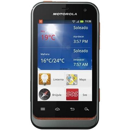 "Smartphone Defy Mini Motorola (8.13 cm (3.2 "") écran 3 MPix appareil photo noir, orange)-Smartphone"