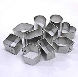 10 pcs/Set Aluminium alloy cookie cutter set for cookies, cake and pastry