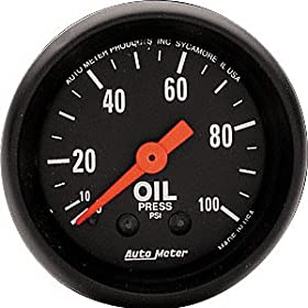 Auto Meter 2604 Z-Series Mechanical Oil Pressure Gauge