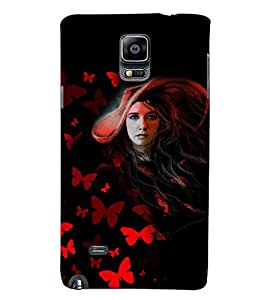 PRINTSWAG GIRL Designer Back Cover Case for SAMSUNG GALAXY NOTE 4 DUAL