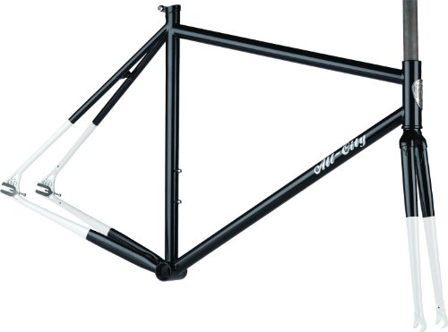 All-City Big Block 49cm Track Frameset Black/White