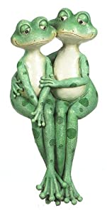 Ganz Double Frog Sitting Couple Shelf Sitters, Medium