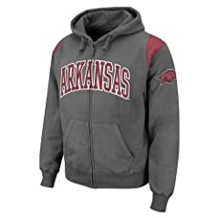 Arkansas Razorbacks Mens Vintage Sweatshirt Hoodie by Colosseum