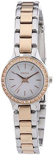 DKNY  - Reloj Analógico de Cuarzo para Mujer, correa de Acero inoxidable color Oro rosa