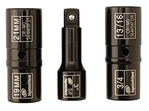 Ingersoll Rand SK4C3F 1/2-Inch Drive 3-Piece Lugnut Service Flip Impact Socket Set from Ingersoll Rand