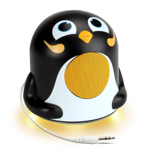 gogroove-karaoke-music-speaker-system-with-cute-penguin-animal-design-led-nightlight-for-kids-toddle