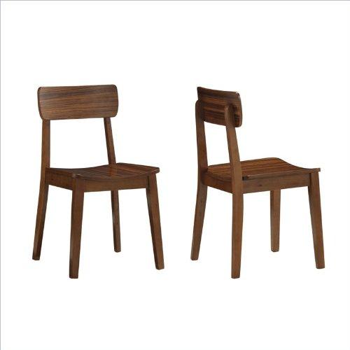 Boraam 33312 Zebra Series Hagen Dining Chair, Honey Oak, Set Of 2 front-322698