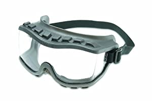 Uvex S3805 Strategy Safety Goggles, Gray Body, Clear Uvextra Anti-Fog Lens, Closed Vent, Neoprene Headband