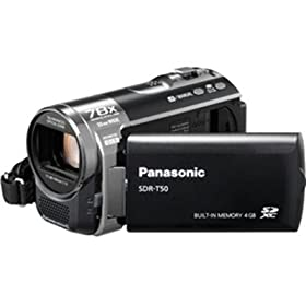 Panasonic SDR-T50K Std-Def SD Camcorder with 78X Zoom & 4 GB Flash Memory (Black)