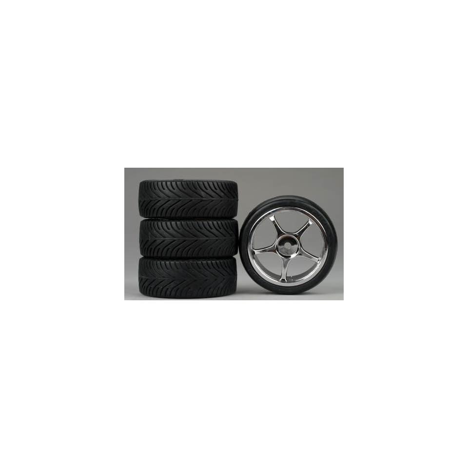 Dynamite 5 Spoke Chrome Wheel, Radial (4)