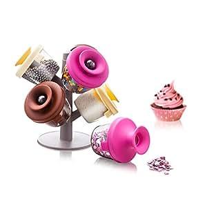Vacu Vin Cake Decoration Storage and Dispensing Set - Pink / Brown / Yellow