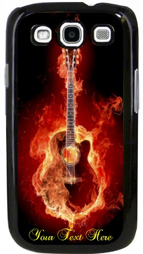 """""""Accoustic Guitar On Fire"""" Phone Cover Fits Galaxy Siii (S3) For Music Teacher, Student, Player Or Just A Fan"""