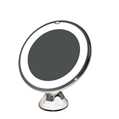 7X Lighted LED Makeup Mirror Vanity Cosmetic Bathroom Travel Mirror with Rotating, Locking Suction Cup; Rotating Adjustable Tilting Arm; 7X Magnification (7X Magnification) (Make Up Lighting compare prices)