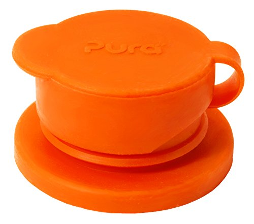Pura Sport Big Mouth Silicone Sport Top, Orange (Plastic Free, NonToxic Certified, BPA Free) (Baby Sport Bottle compare prices)