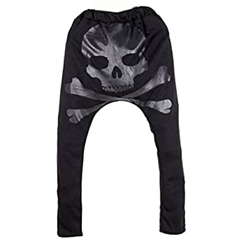 Partiss Herren Hose mit Skull Haremshose Harem Pant, m,black