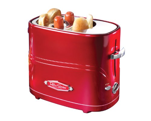 Nostalgia Electrics HDT-600RETRORED Retro Series Pop-Up Hot Dog Toaster