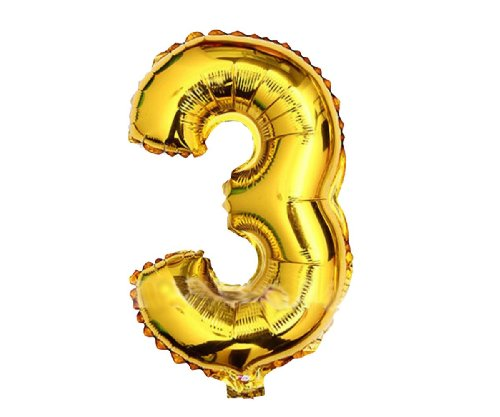 PartyWoo Numbers 0-9 Birthday/Party Balloons (3), 40