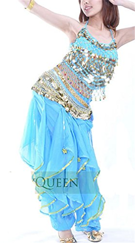 Dreamspell 2014 Light Blue 3pcs Belly Dance Suit Professional Costumes