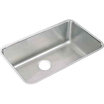 Elkay ELUH281612 Gourmet Lustertone Undermount Sink, Stainless Steel