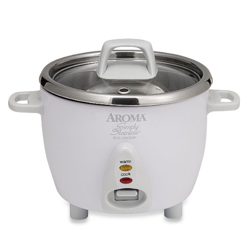 Aroma Simply Stainlesstm 6-Cup Rice Cooker