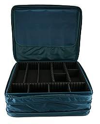 Joy Mangano Jewel Kit 2-tier Organizer Jewelry Box, Deep Teal by Joy Mangano