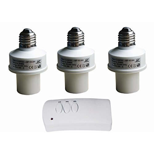 remote control wireless light bulb socket cap switch for lamps bulbs. Black Bedroom Furniture Sets. Home Design Ideas