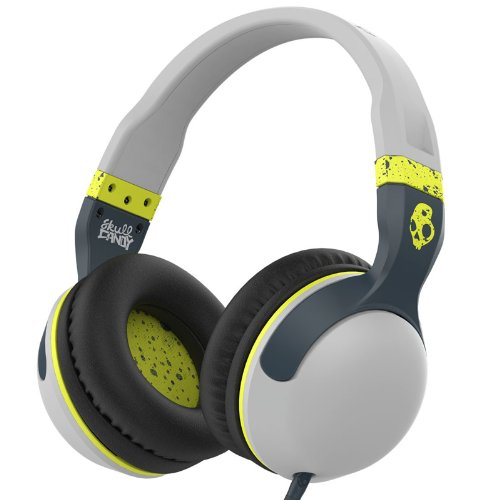 Skullcandy Hesh 2 Micd Light Gray/Dark Gray/Hot Lime Over-Ear Headphones With Mic (S6Hsgy-384)