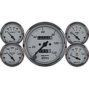 Autometer 1901 American Platinum Series W Kit Box Speedometers