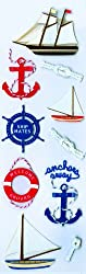 Martha Stewart Crafts Stickers, Nautical Sailboats