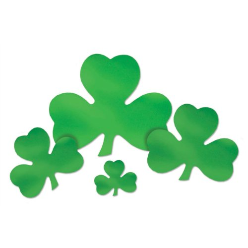 Foil Shamrock Cutout Party Accessory (1 count)