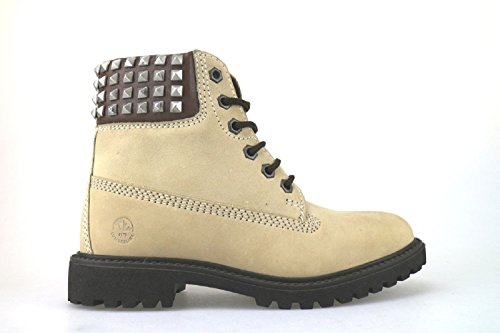 scarpe donna LUMBERJACK stivaletti beige pelle scamosciata AJ175 (36 EU)