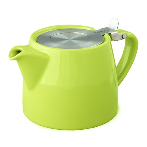 Forlife Stump 18-Ounce Teapot With Sls Lid And Infuser, Lime