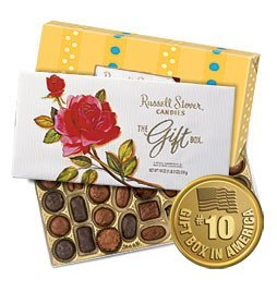 """Russell Stover """"The Gift Box"""", Select Assortment of Milk & Dark Chocolates, 18-oz. box"""