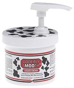 Udderly Smooth Udder Cream, Skin Moisturizer, 10 Ounce Jar with Dispenser Pump