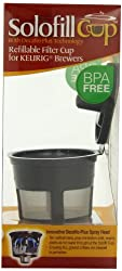 Solofill Cup, Refillable Cup For Keurig Single serve cups Brewers, Black from Solofill