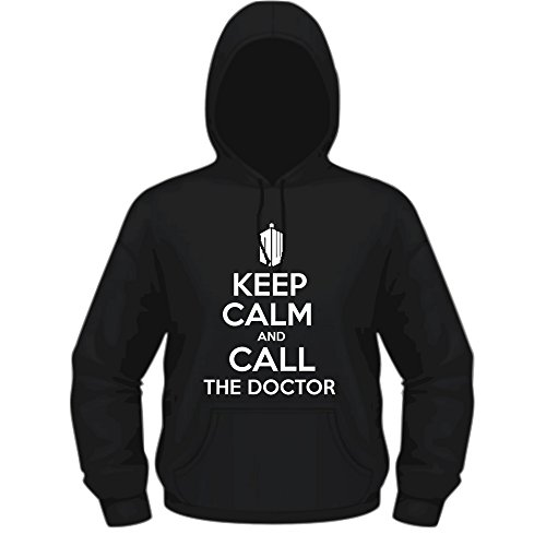 Creepyshirt - KEEP CALM AND CALL THE DOCTOR - DOCTOR WHO INSPIRED HOODIE - XXL