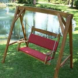Cumaru Double Porch Swing - Garnet - Buy Cumaru Double Porch Swing - Garnet - Purchase Cumaru Double Porch Swing - Garnet (W.R. Perkins, Home & Garden,Categories,Patio Lawn & Garden,Patio Furniture,Chairs,Rocking Chairs)
