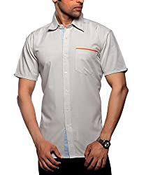 Moksh Men's Striped Casual Shirt V2IMS0414-11 (Large)